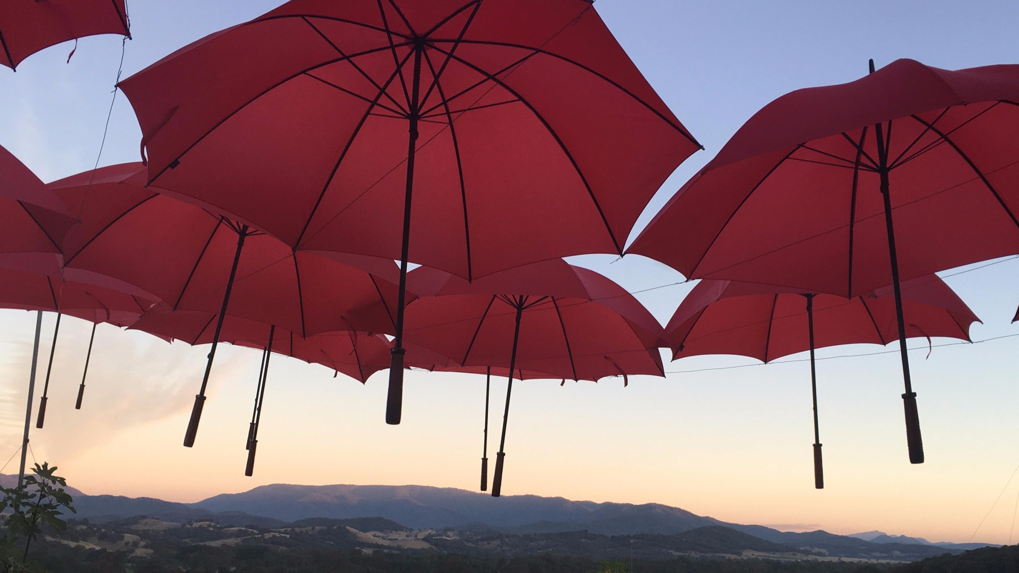 Red Umbrella Sky