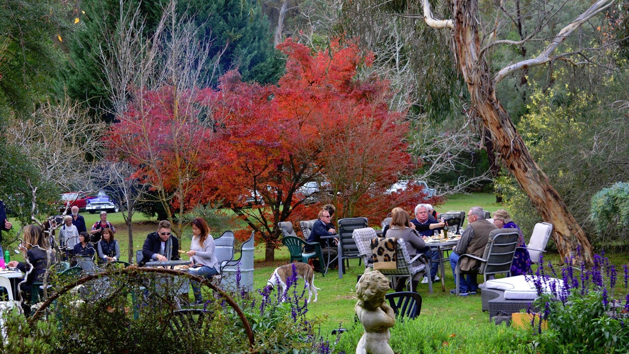 Guests enjoying Aussie Wine Month festivities