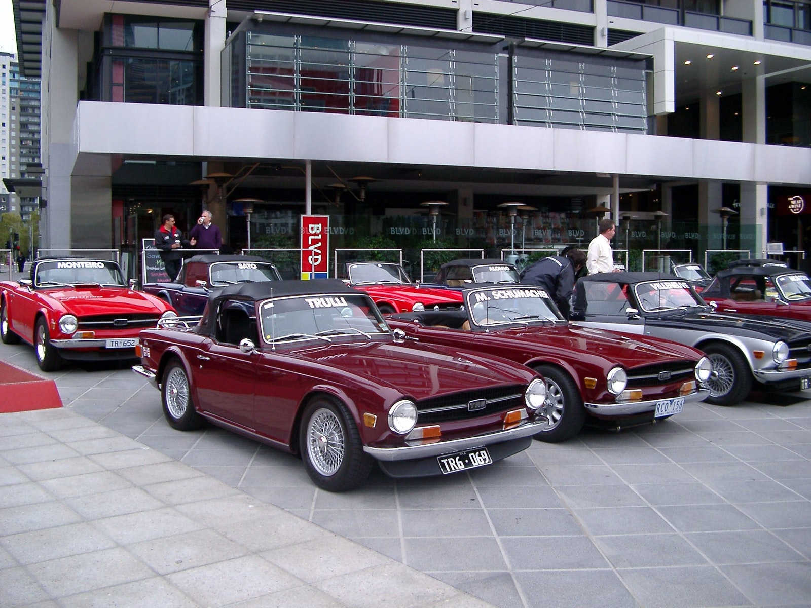 Each year interesting cars are used for the F1 driver's parade, It was the Triumph TR's turn in 2006