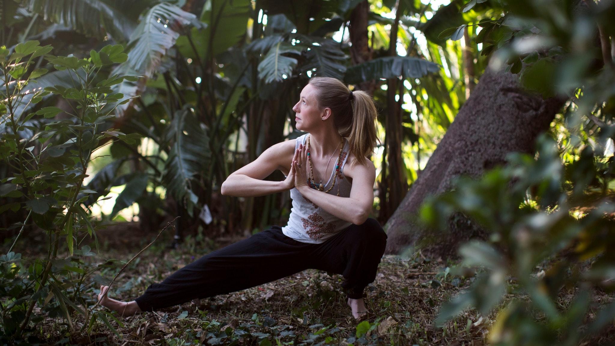 Strengthen Your Roots Yoga Workshop Skandasana pose Emily Rose Yoga