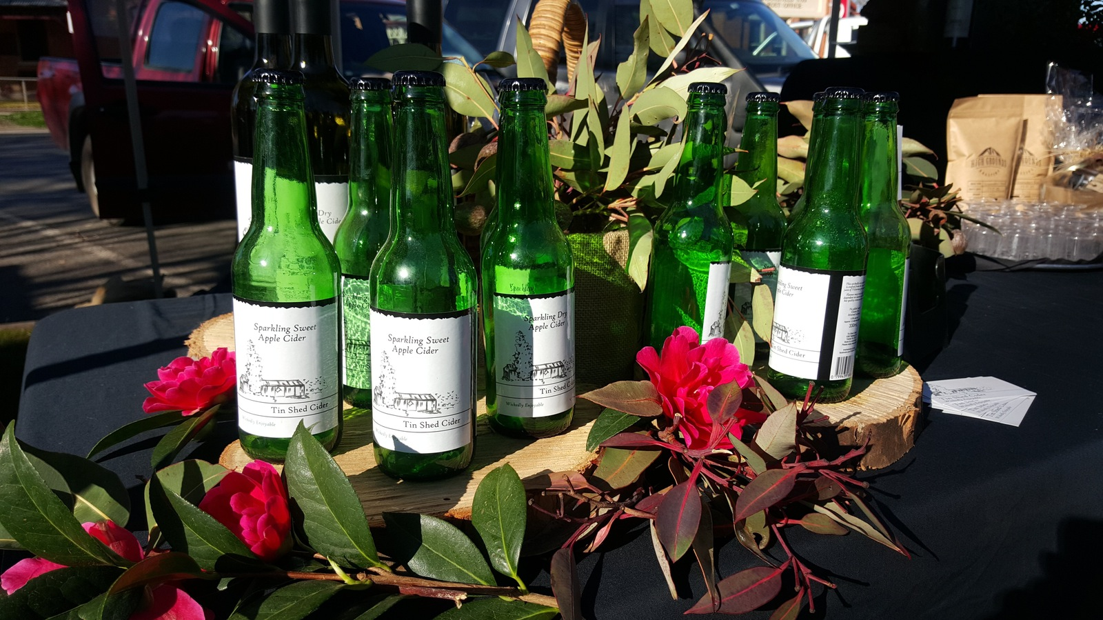 Local cider at the Mansfield Farmers market