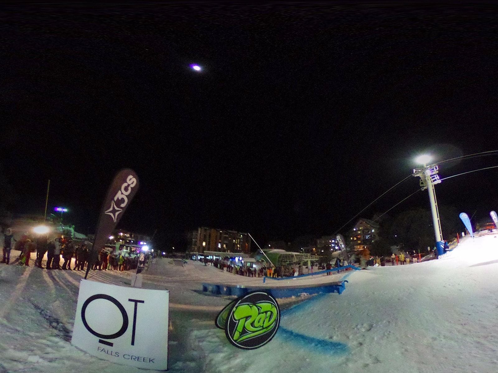 Falls Creek's rail jam under lights!