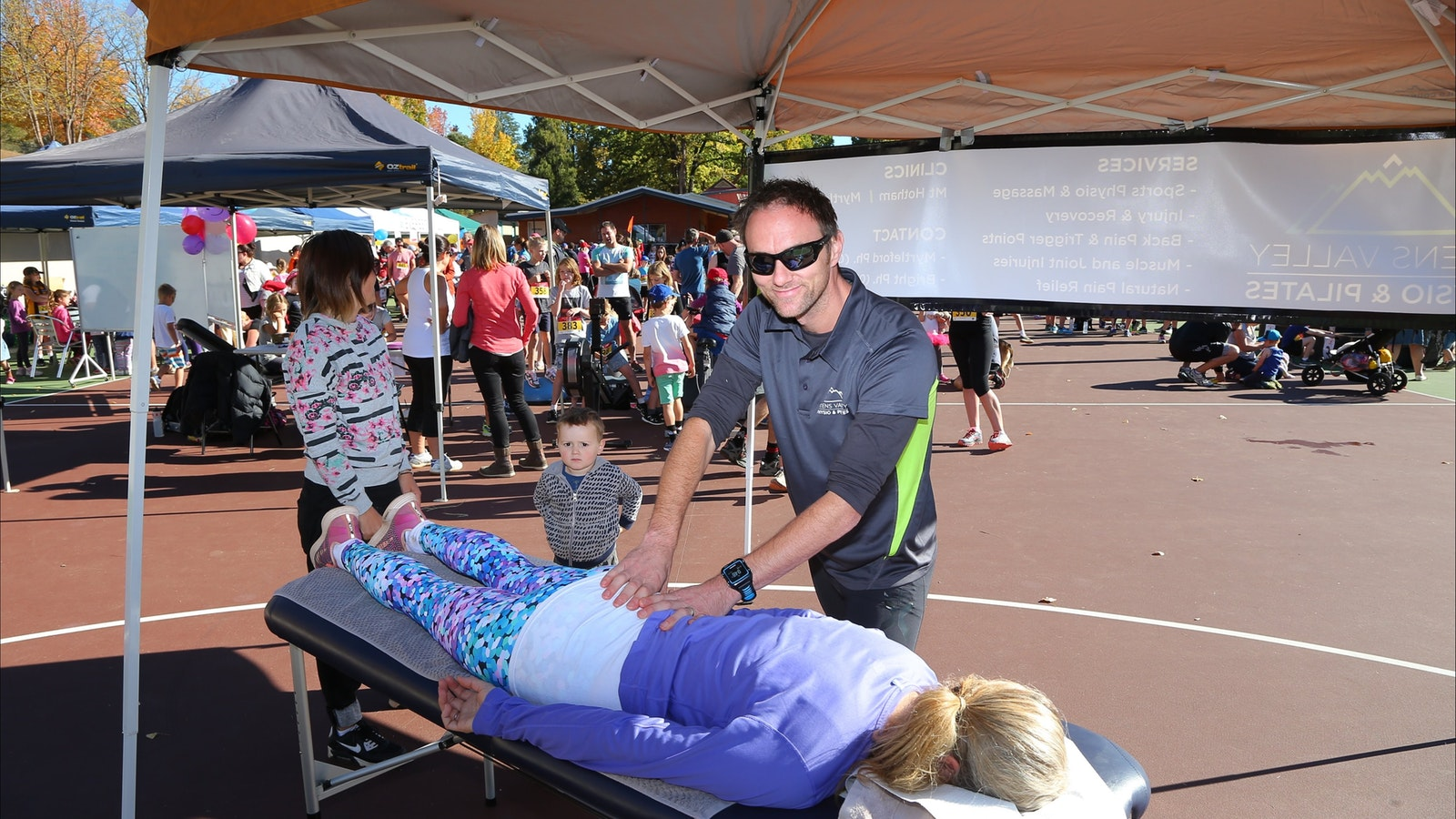 Getting a massage from Ovens Valley Physio and Pilates