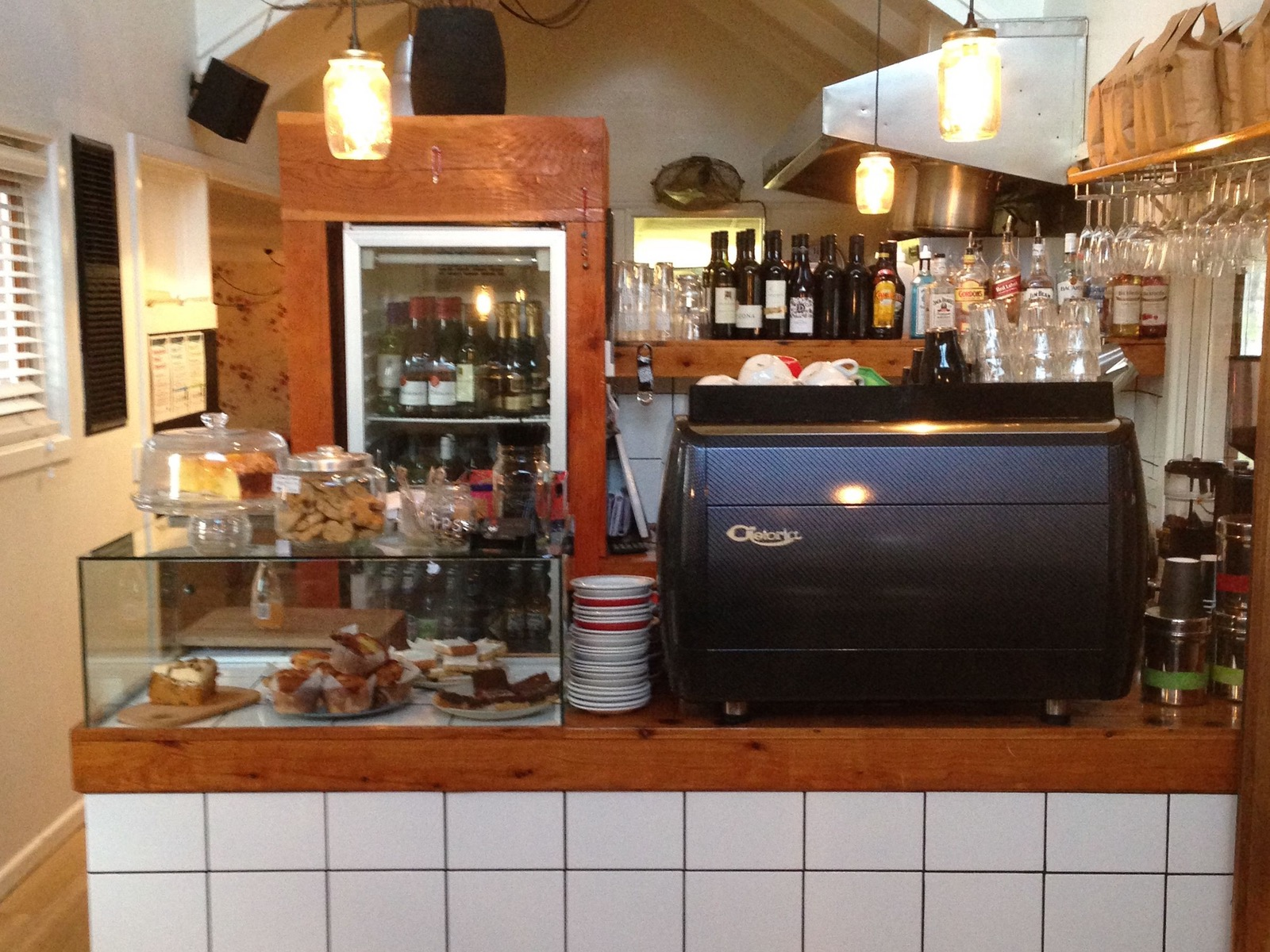 Coffee counter at Ginger Baker