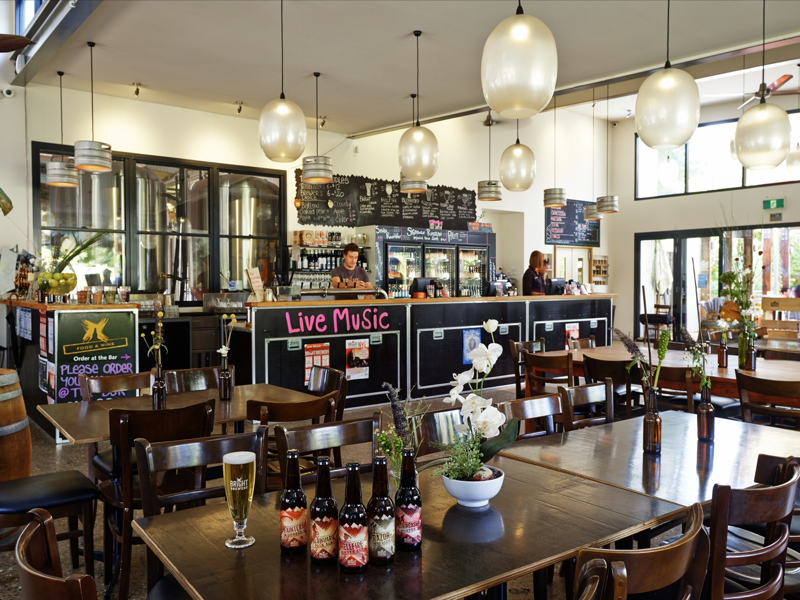 Inside Bright Brewery's bar and restaurant