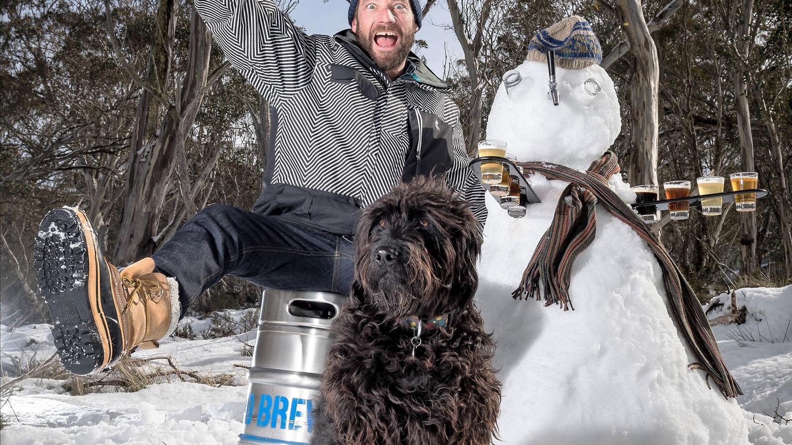 Beer Snowman