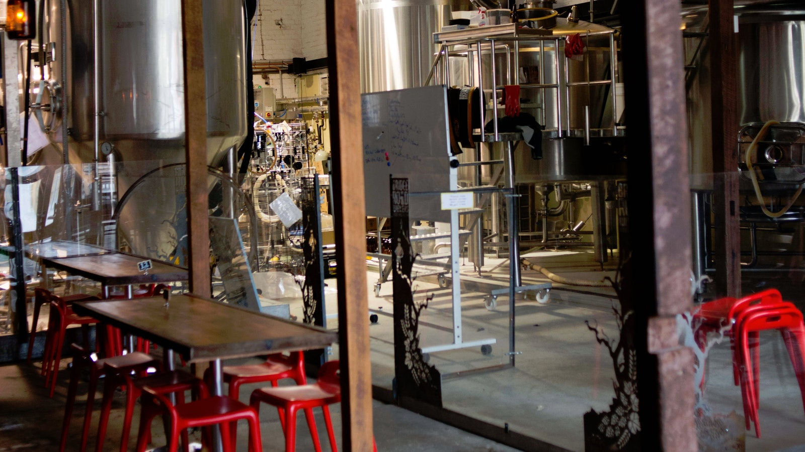 Drink and dine in the heart of the brewery