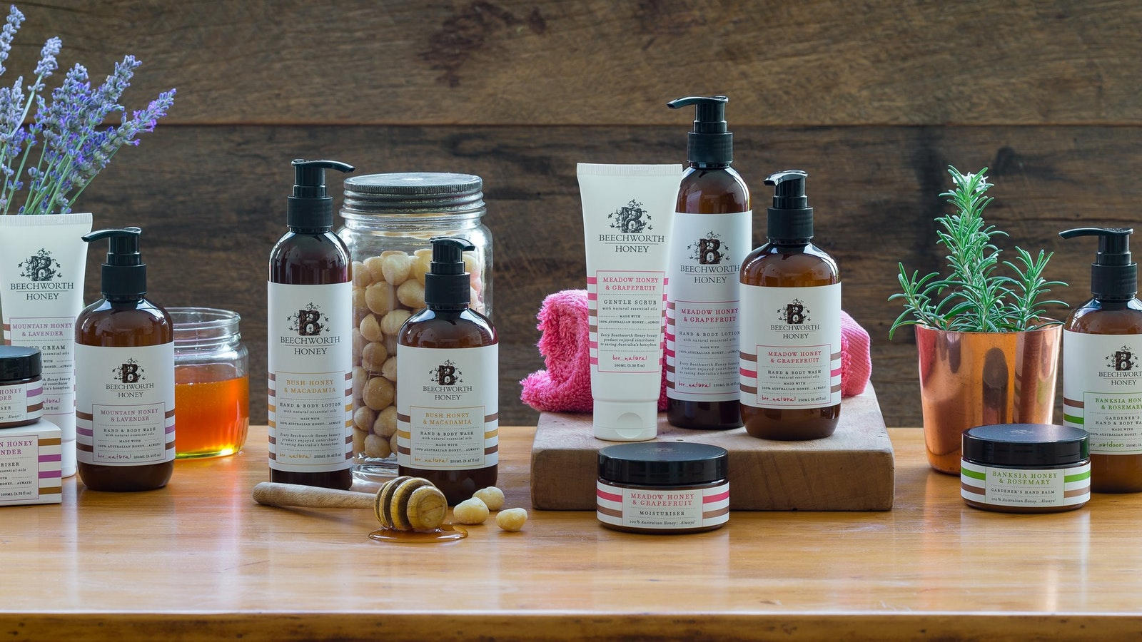Try the Beechworth Honey Bee Natural Beauty Range