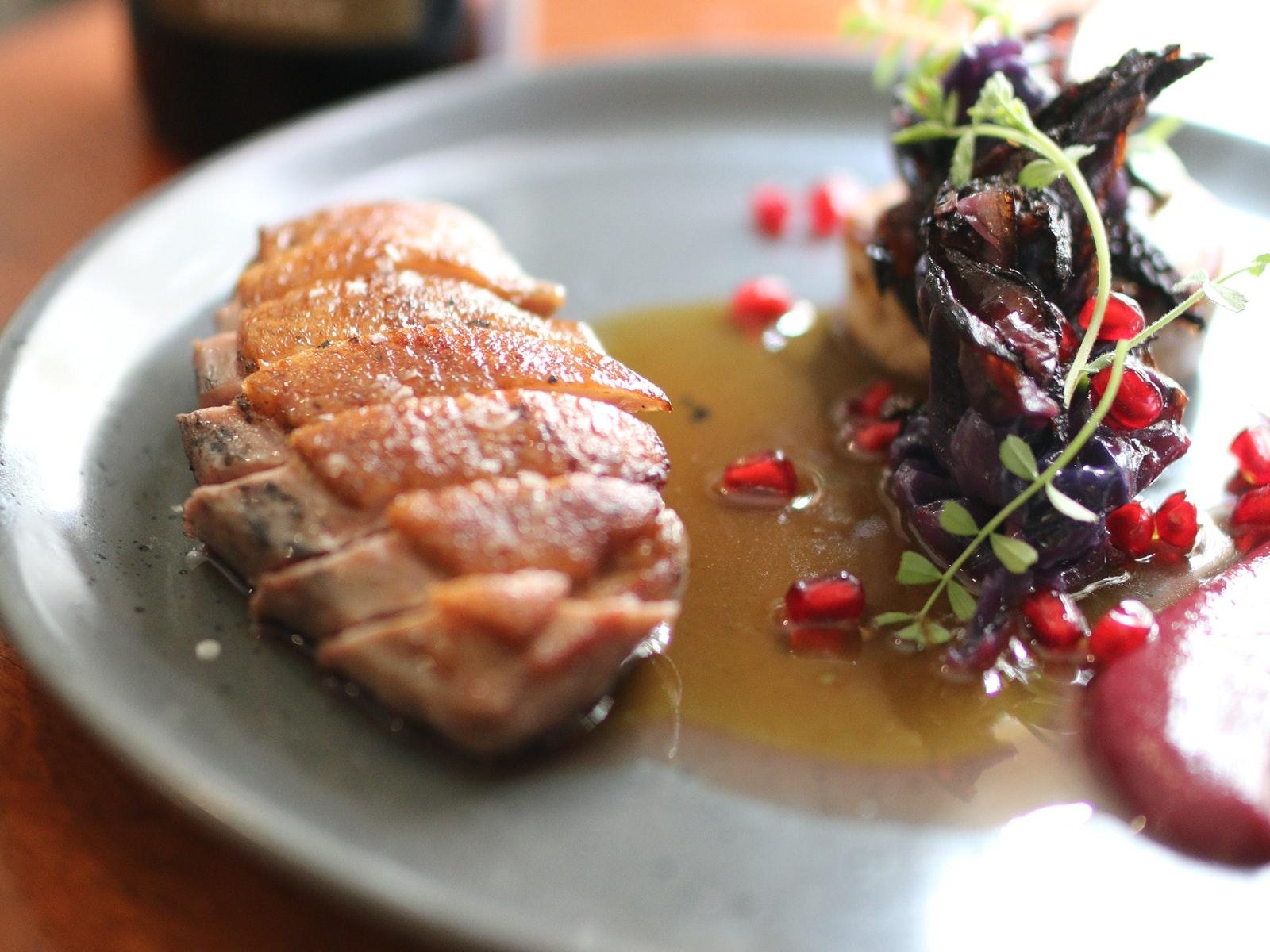 Roasted Riverina duck breast - Jones Winery Restaurant