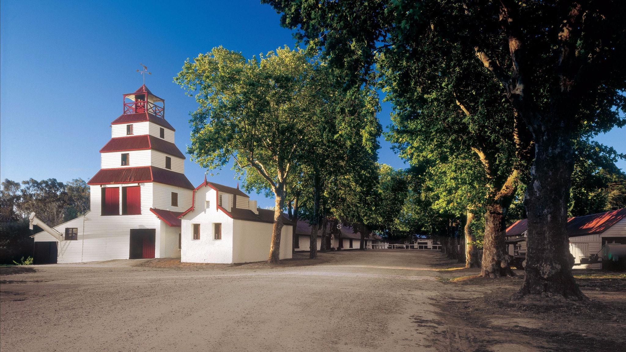 View of original Winery building & Cellar Yard