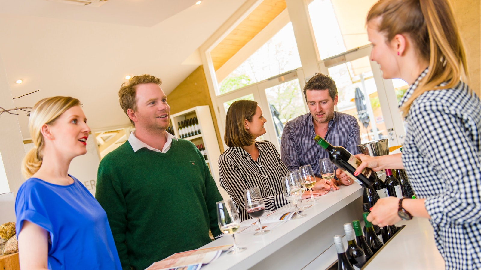 Tasting cool climate wines at Fowles Cellar Door