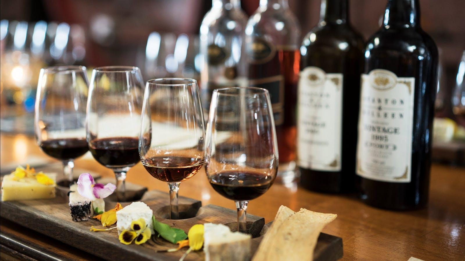 Cheese and Wine Tasting Flight