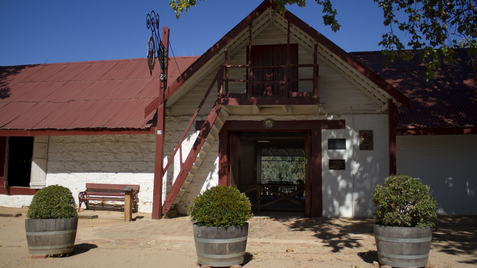Entrance to original Winery building and Cellar Door tasting