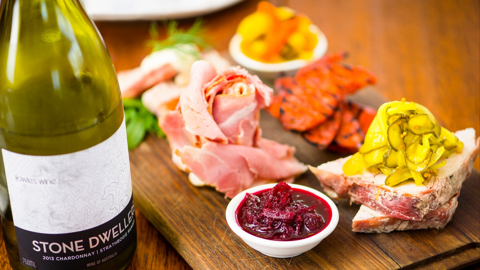 Local Charcuterie and Stone Dwellers Chardonnay