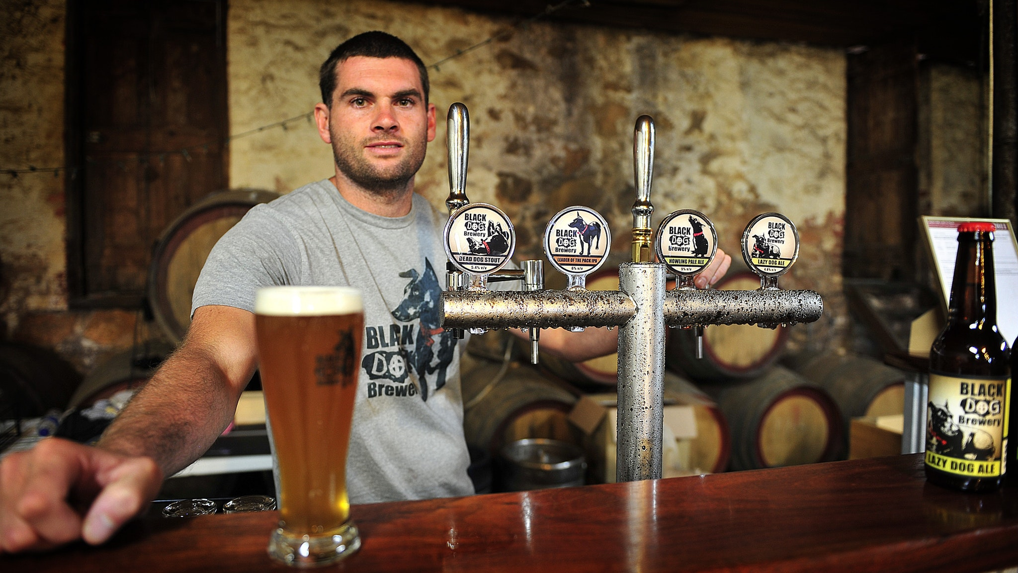 Handcrafted beers at Black Dog Brewery