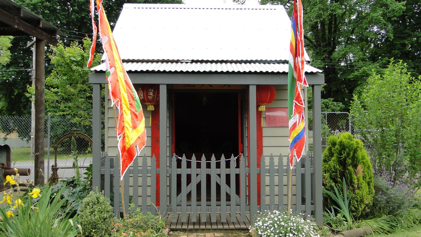 Copy of Chinese Joss House typical of the style used in this area