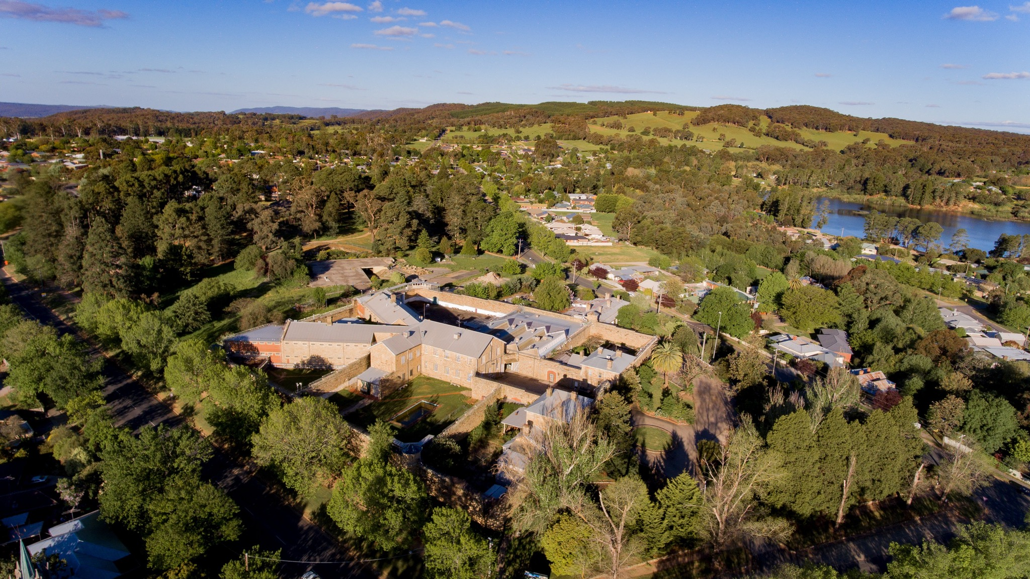 Aerial photograph of the Old Beechworth Gaol