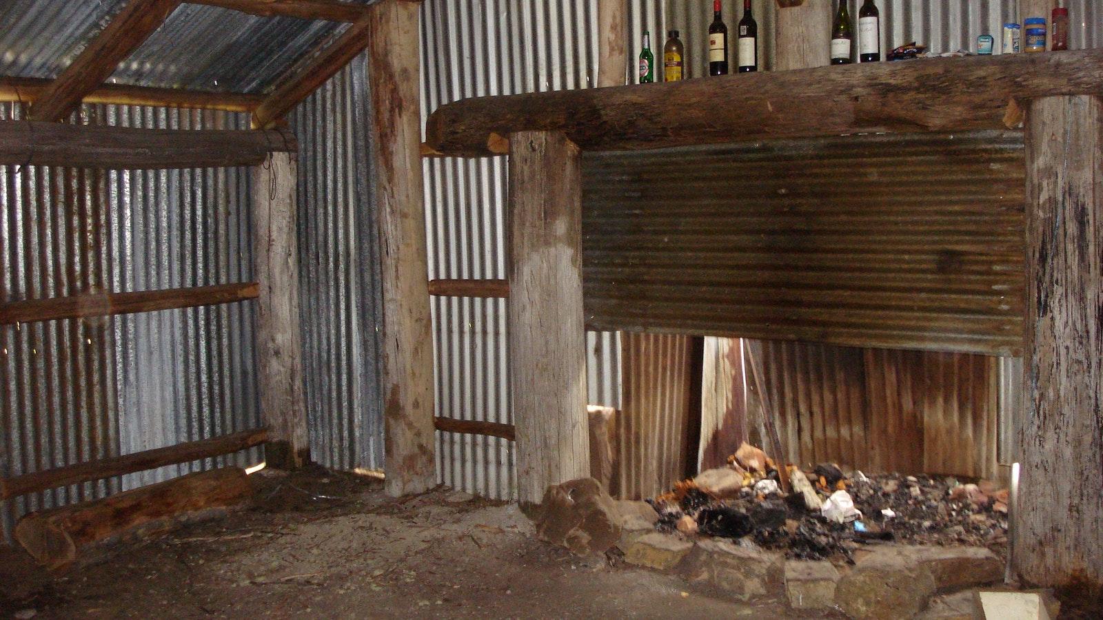 Lovicks Hut inside