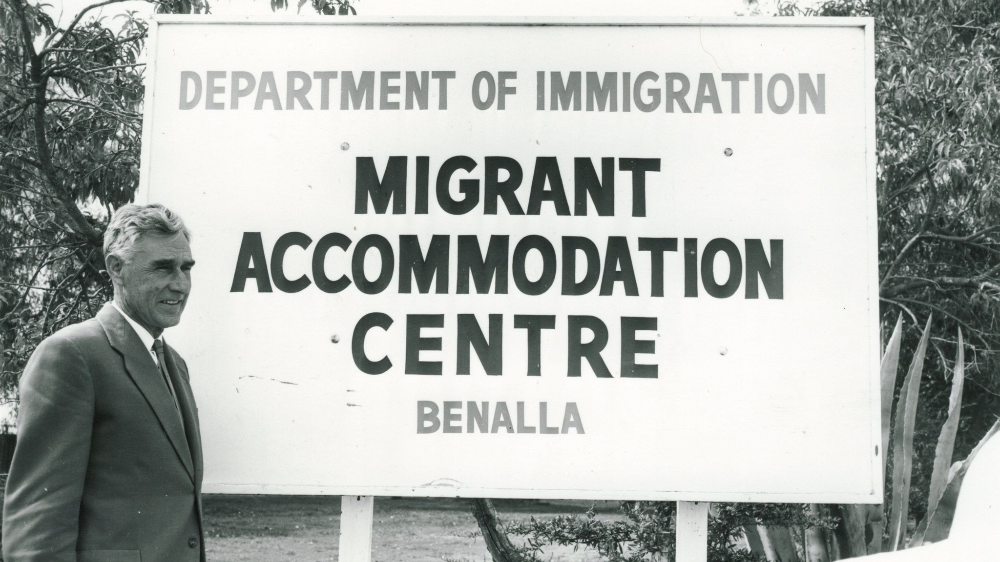 Benalla Migrant Camp Main Gates