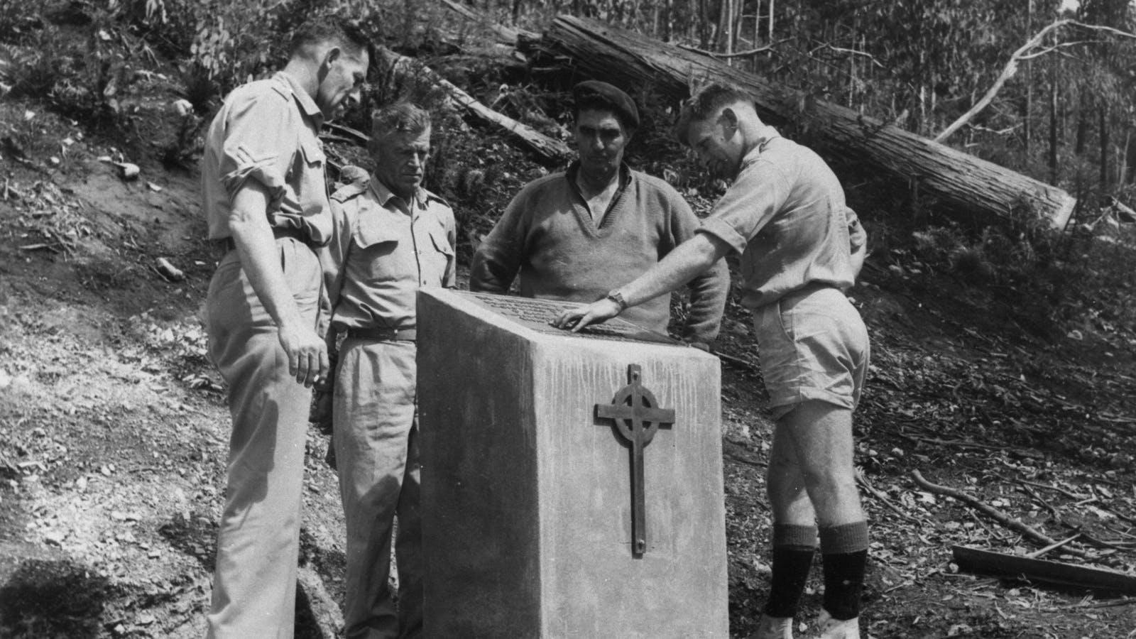 Memorial Cairn Construction  1966