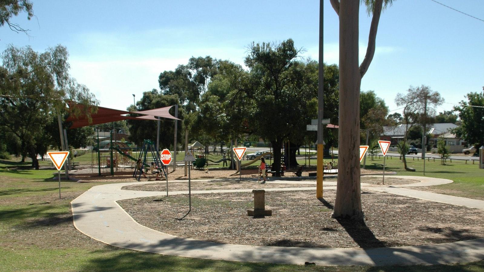 Playground and little bike track