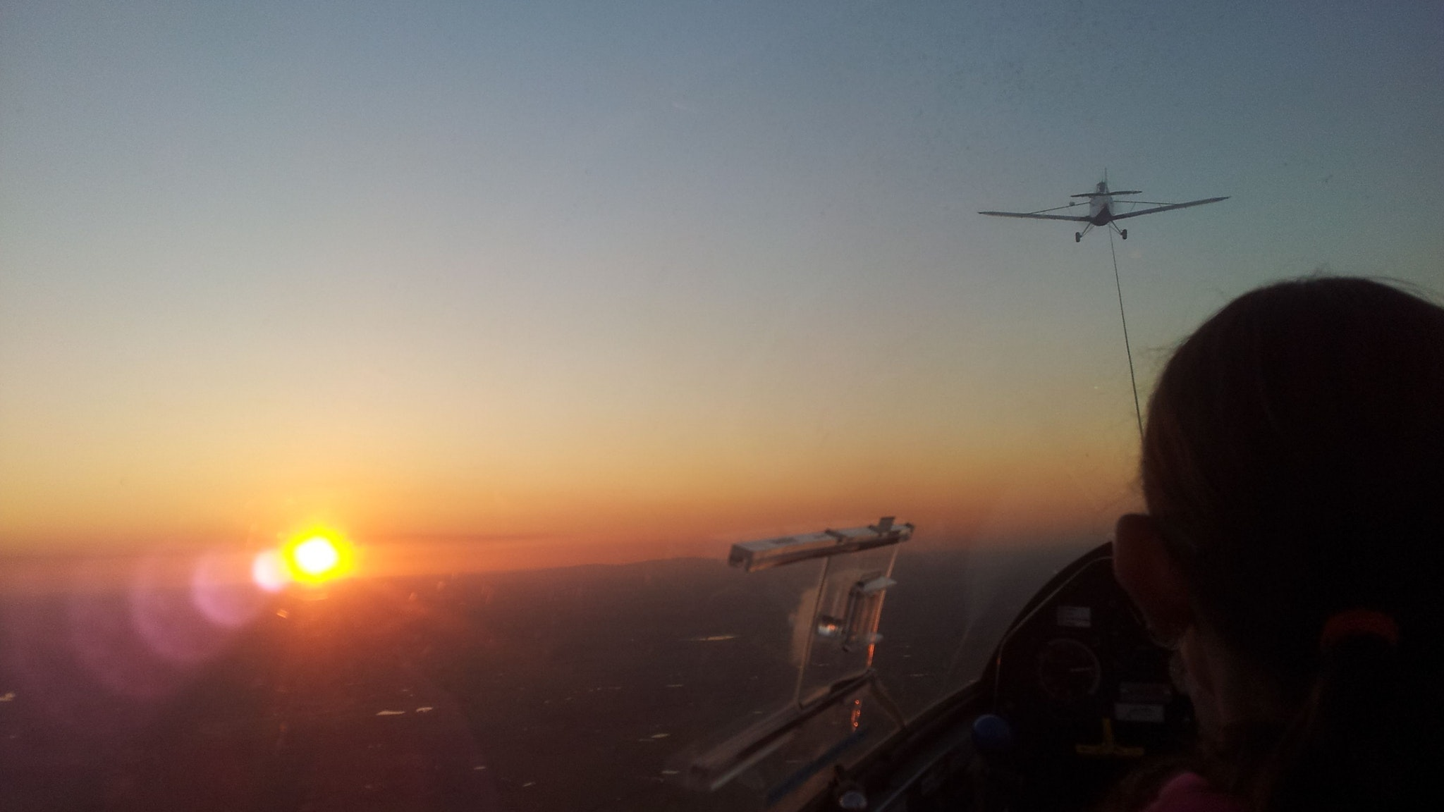Sunset While Gliding