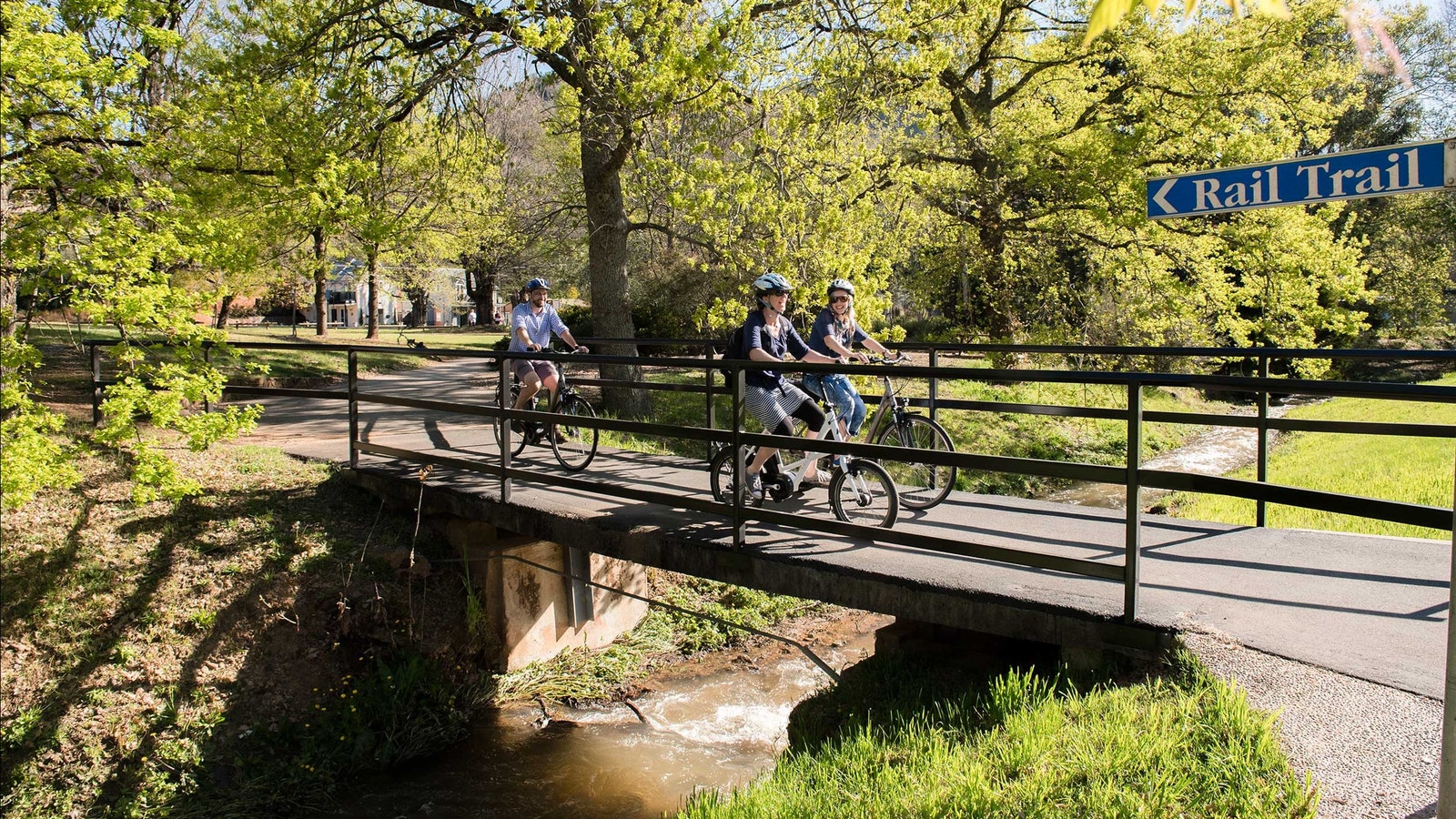 Ride the Murray to Mountains Rail Trail in comfort and style.