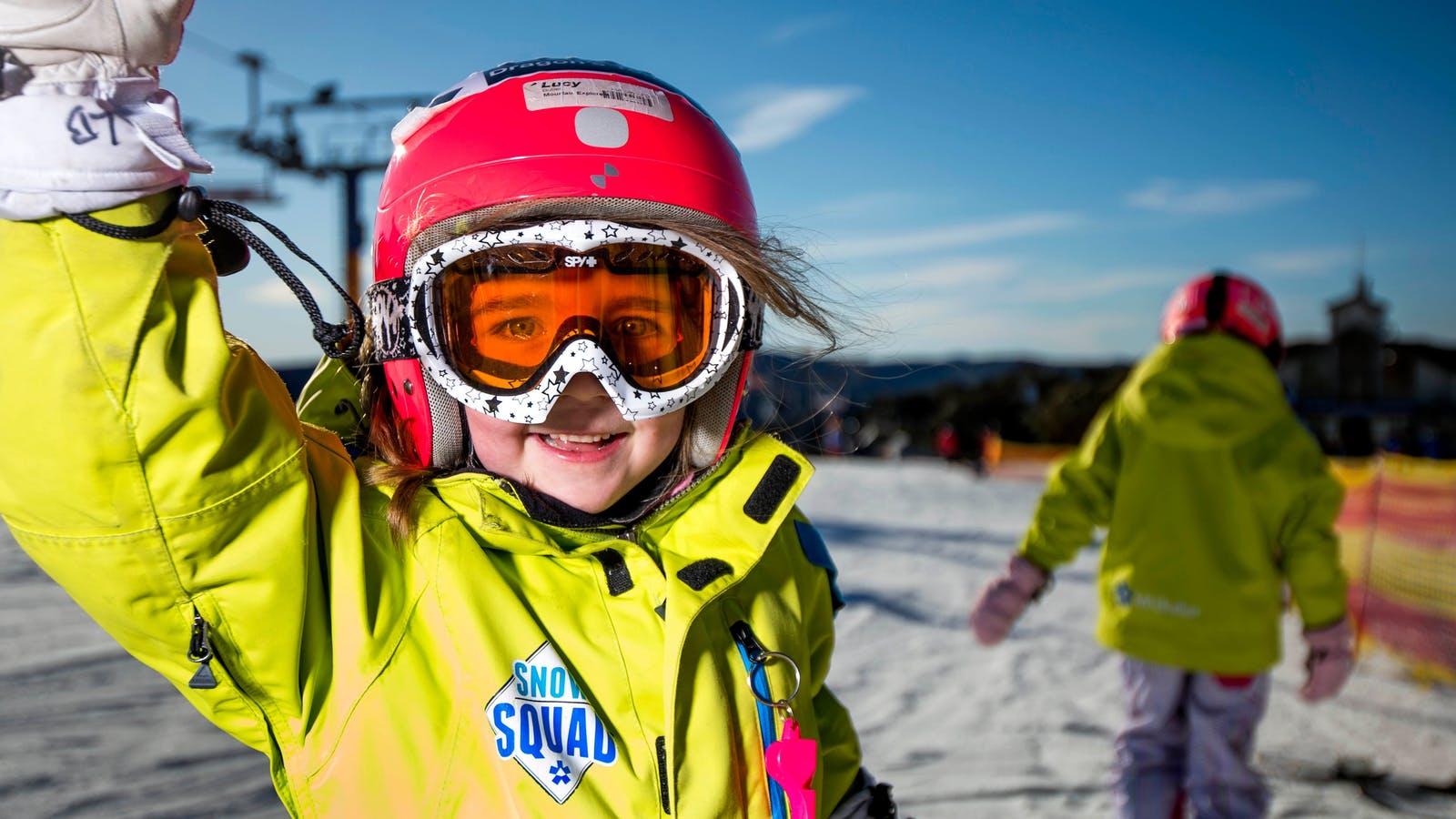 Kids enjoying the Snow Squad programs