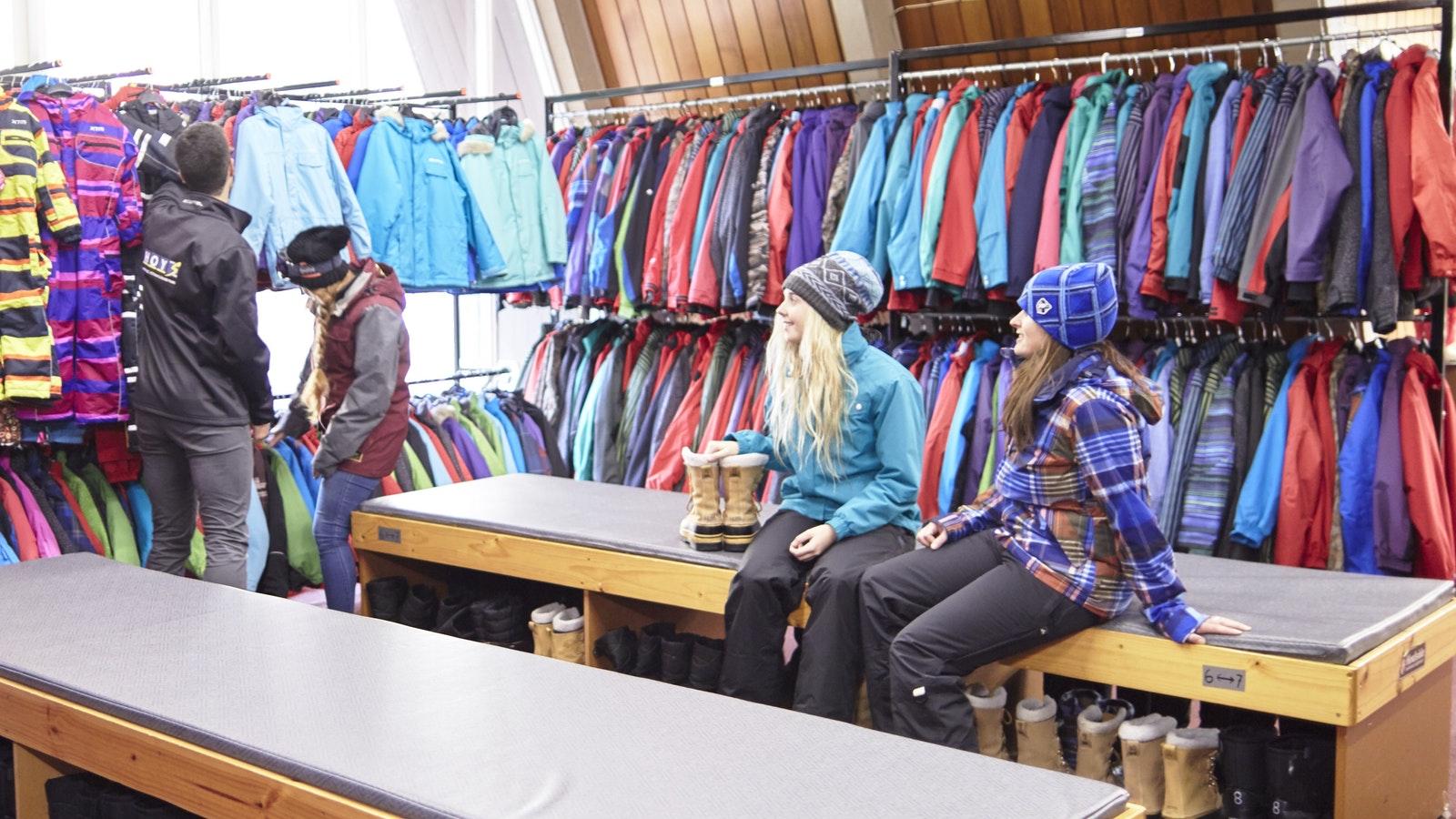 Hoys snow rental clothing