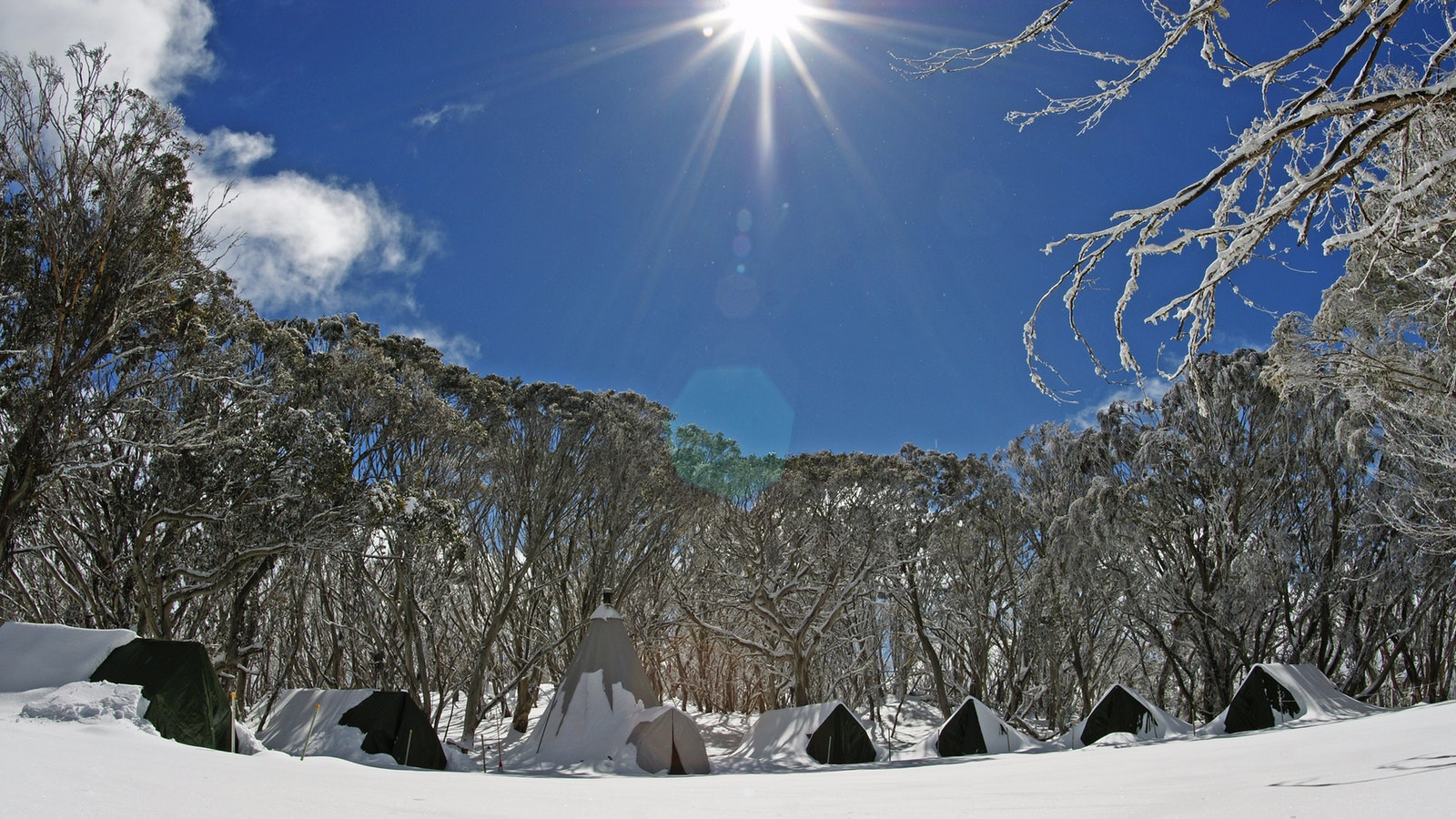 Snow camping at Mt Stirling