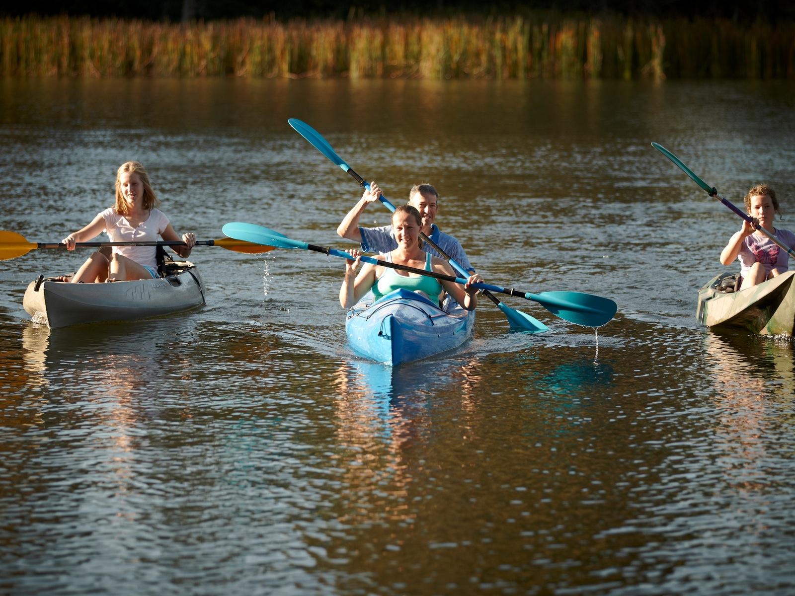 River Tribe kayaking