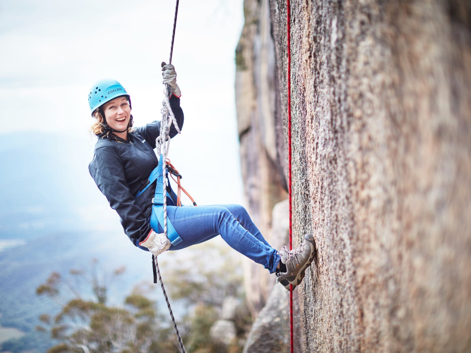 Abseiling at Mount Buffalo
