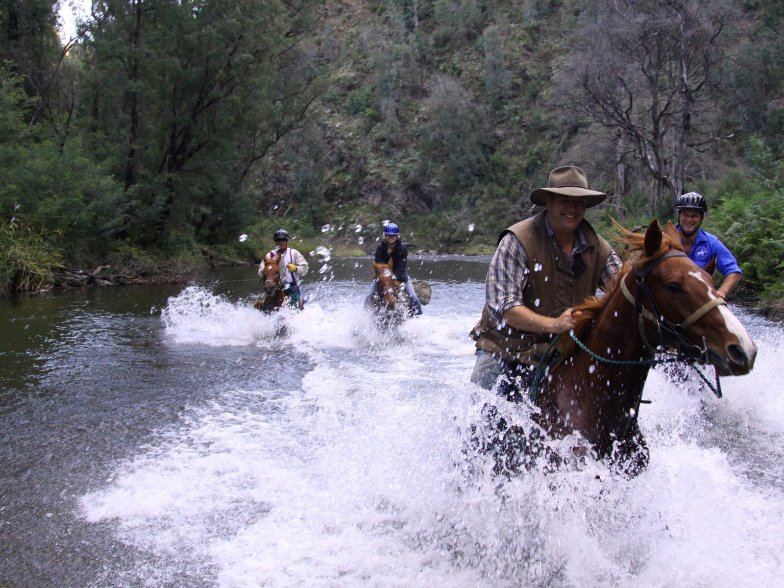 Horse riding along the Howqua River