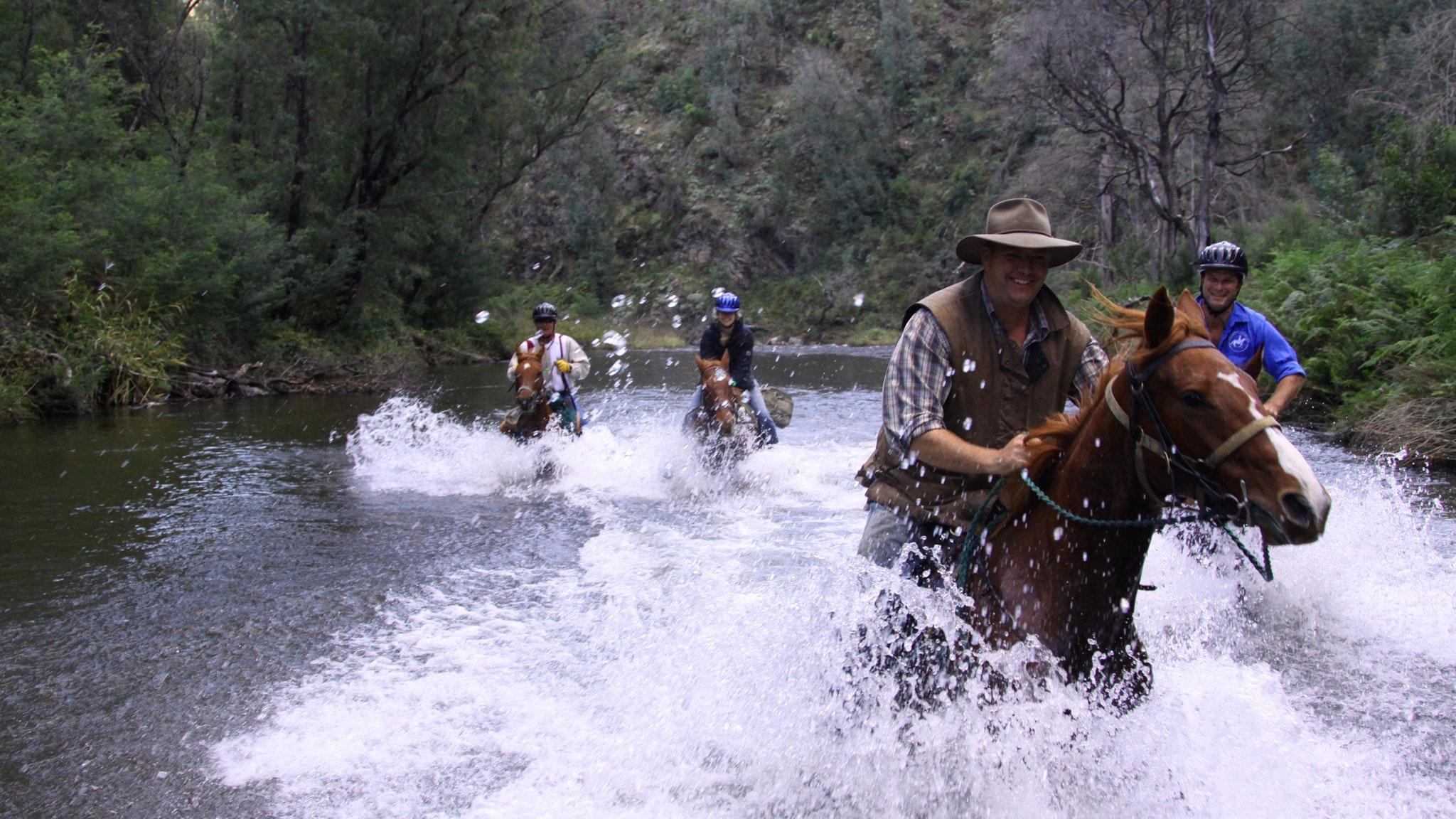 Horse riding along the Howqua River