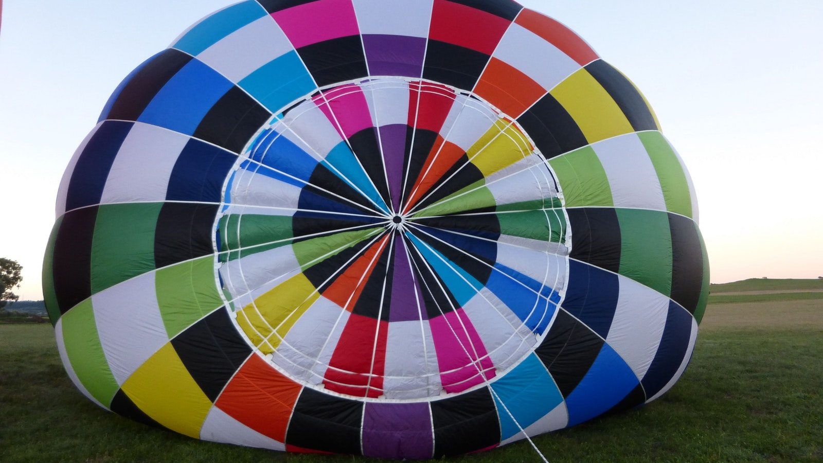 The top of a balloon on inflation