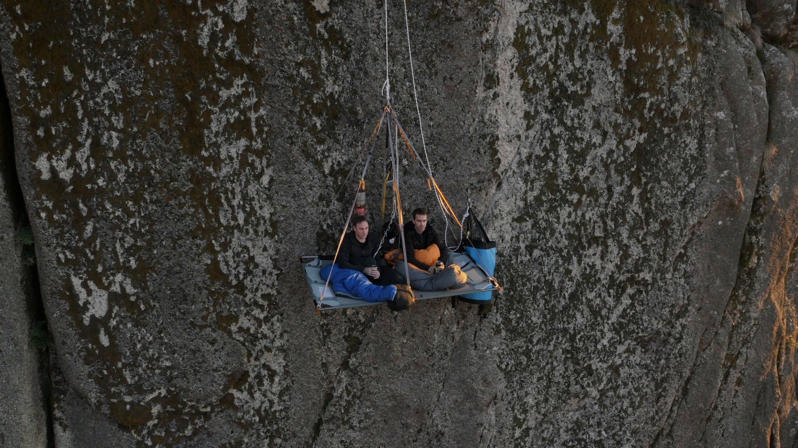 Unleashed-Unlimited Sitting on Portaledge with Brew