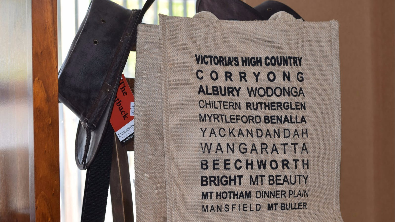 Souvenirs at the Corryong  Visitor Information Centre