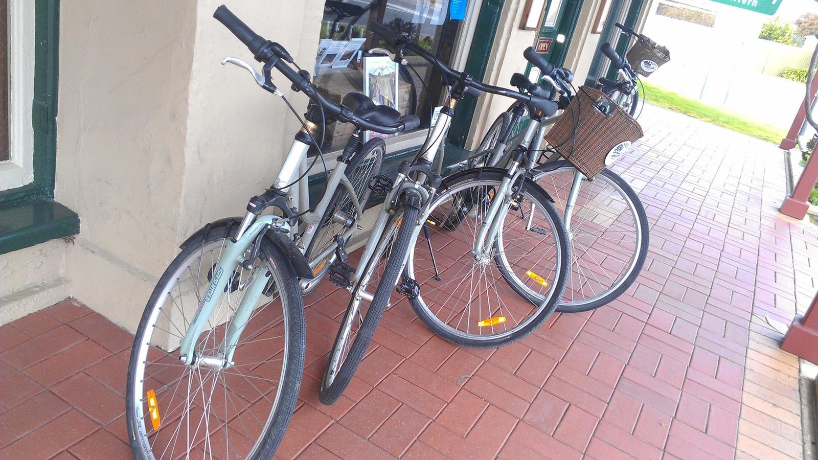 Bikes at Rutherglen Wine Experience
