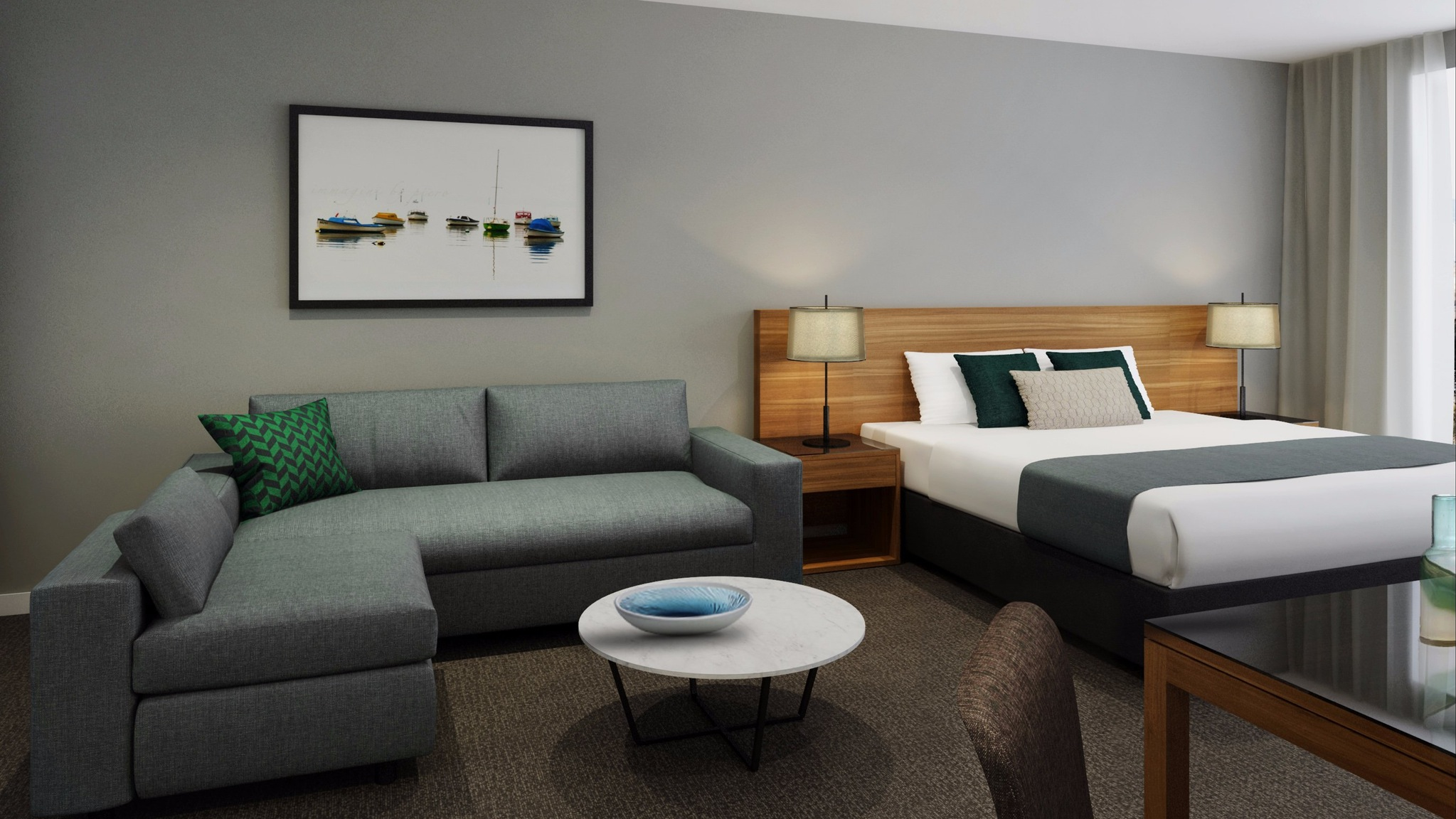 Hotel Rooms/Studios and Apartments