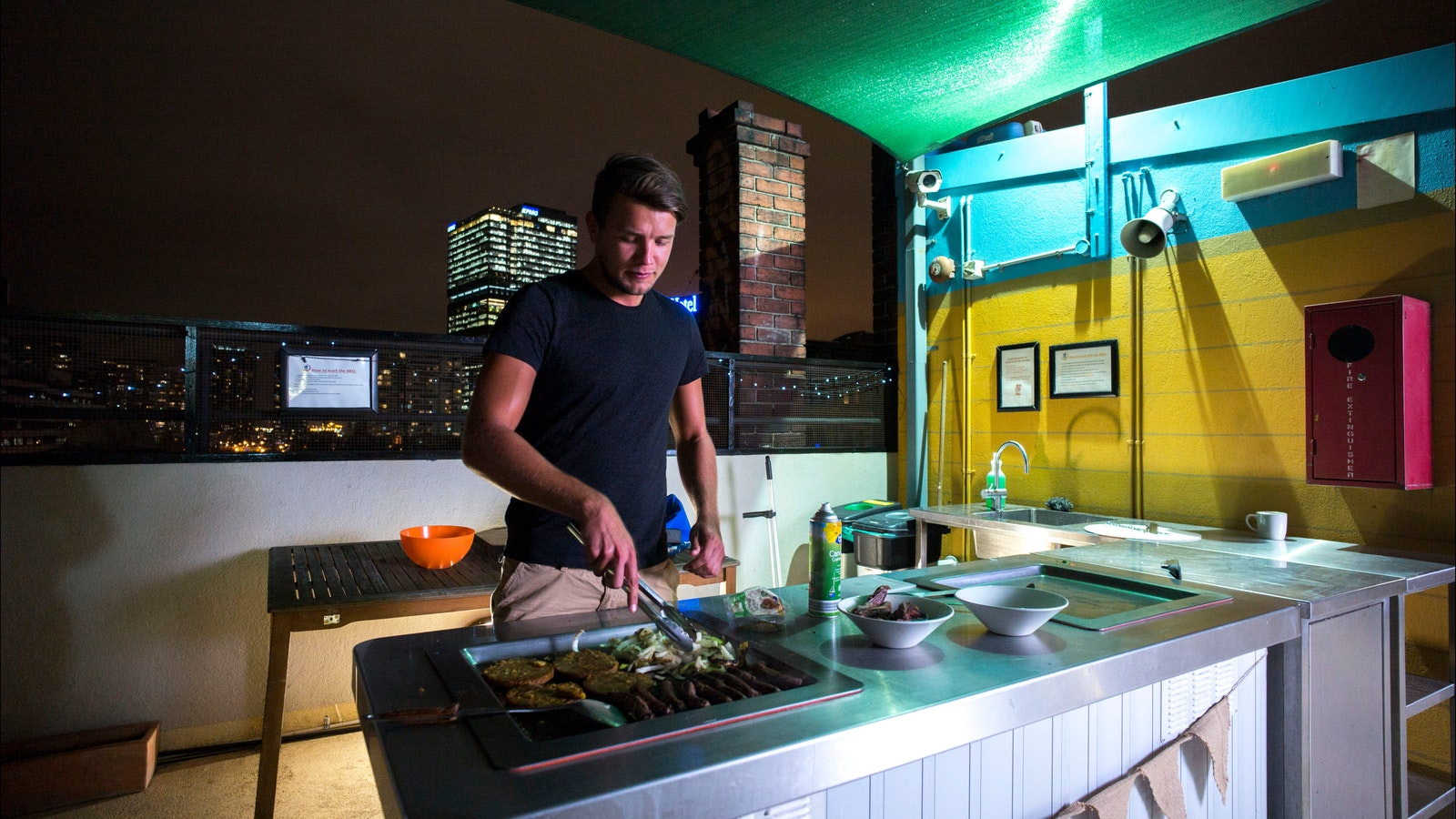 Melbourne Central YHA Rooftop BBQ