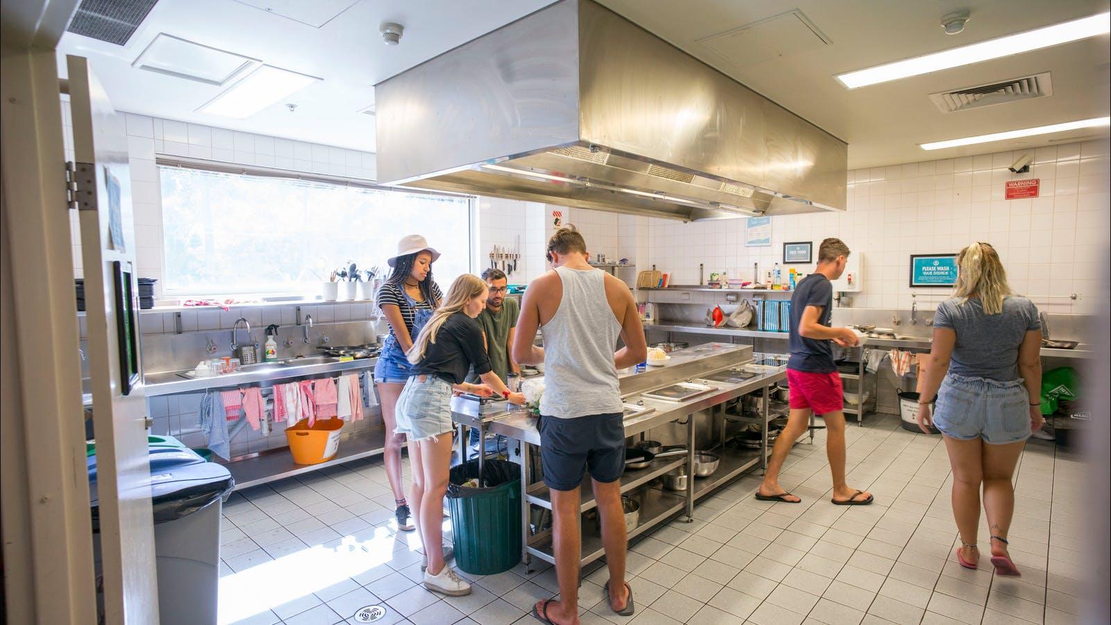 Melbourne Metro YHA Kitchen