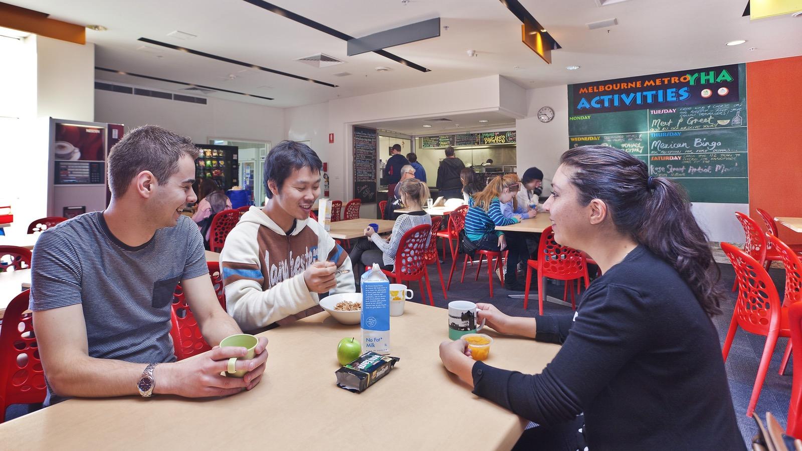 Melbourne Metro YHA dining area