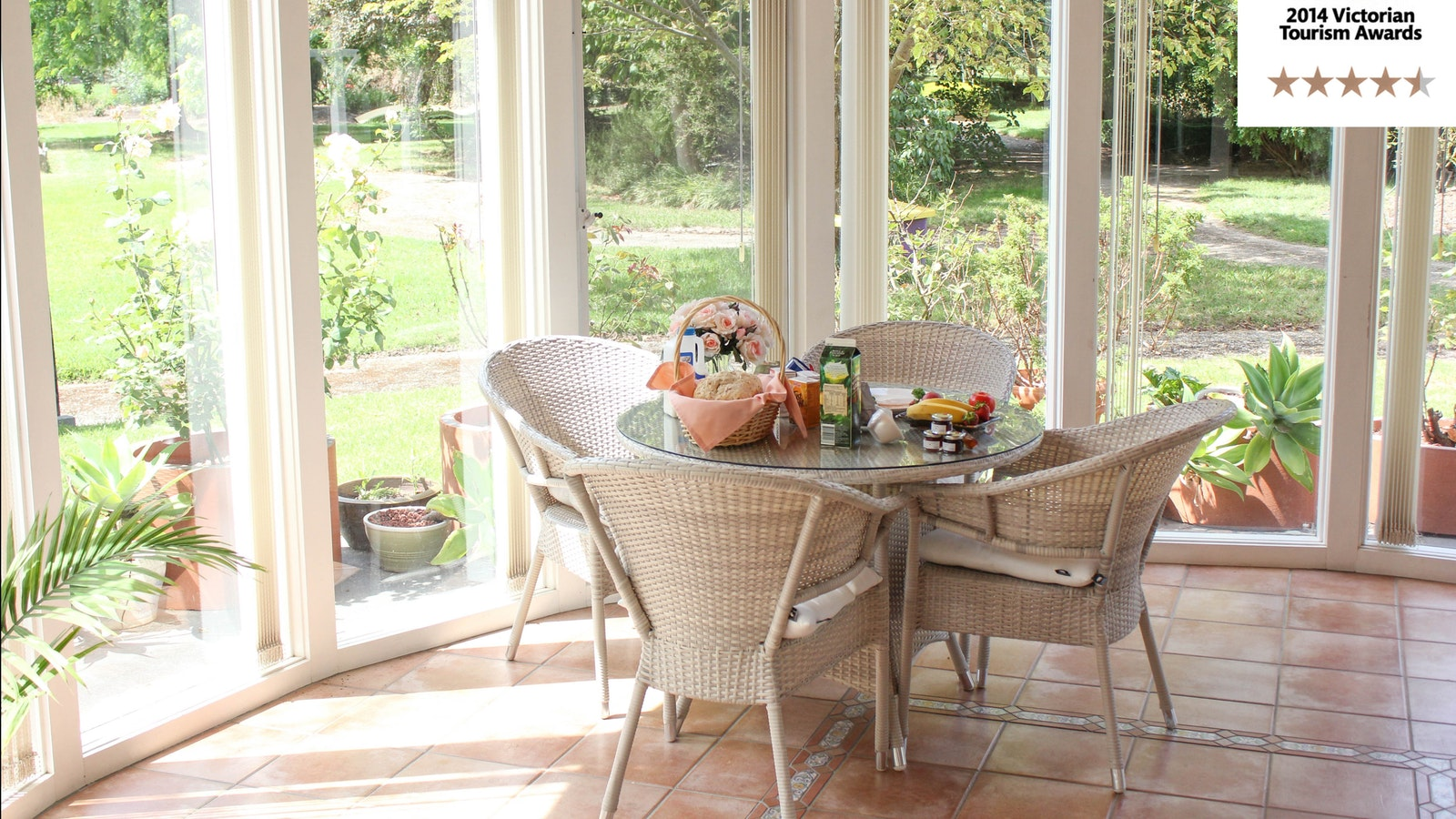 Breakfast in your private sunroom