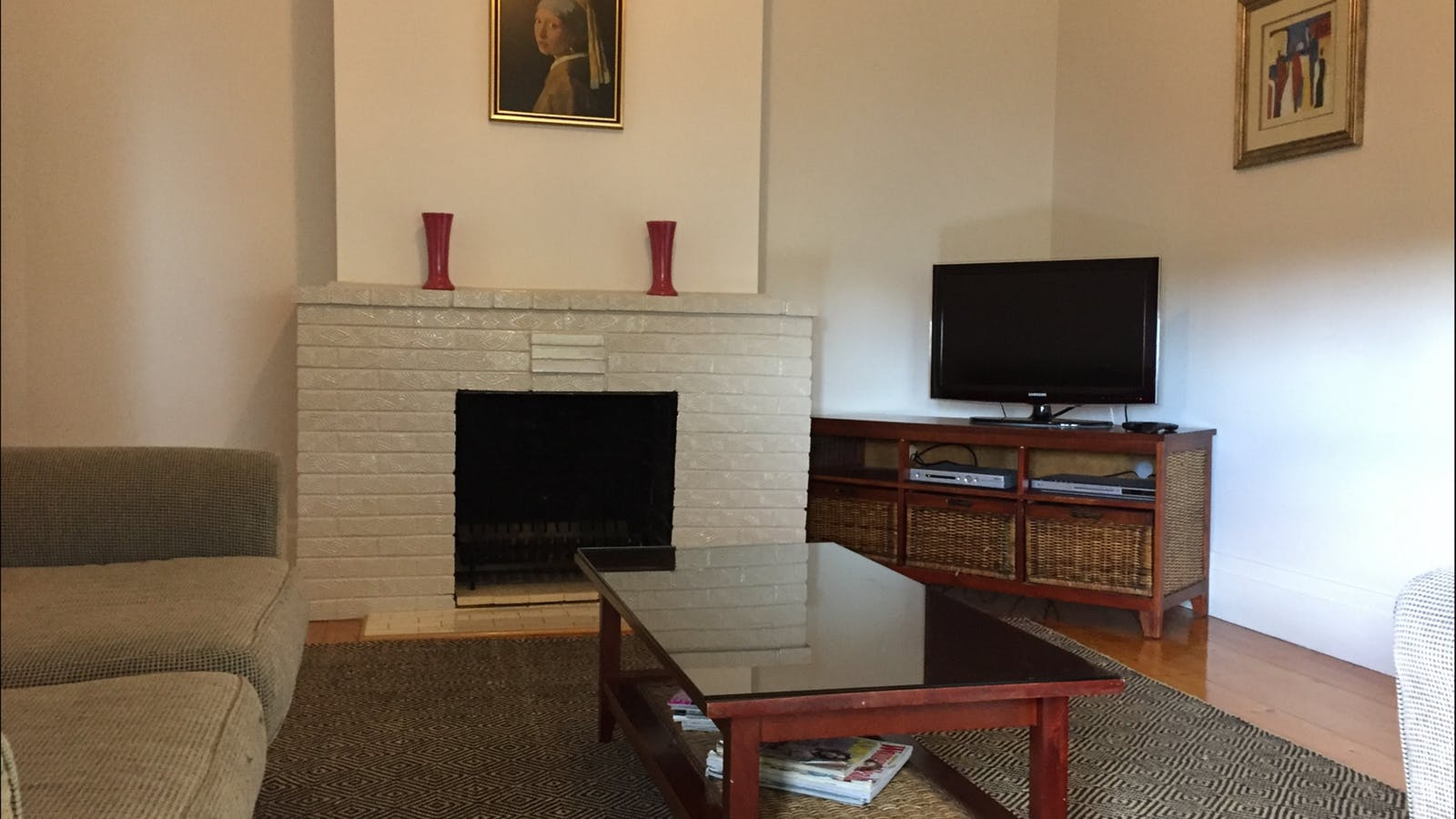 Comfortable lounge with TV, Foxtel, DVD and sitting room at the front of the house.