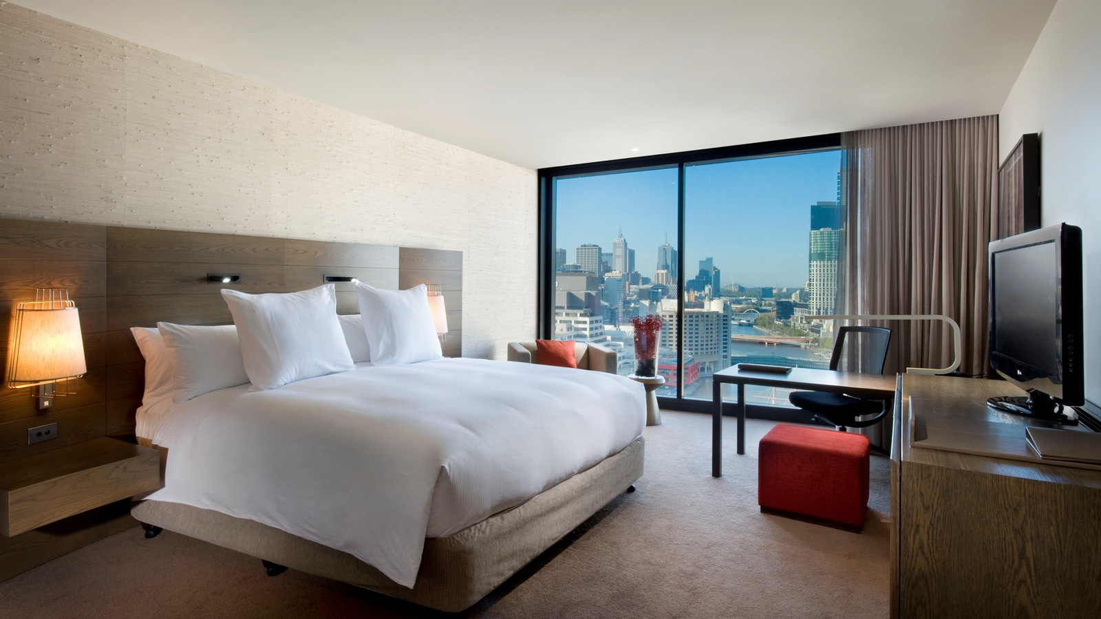 Hilton Melbourne South Wharf - King City View Room