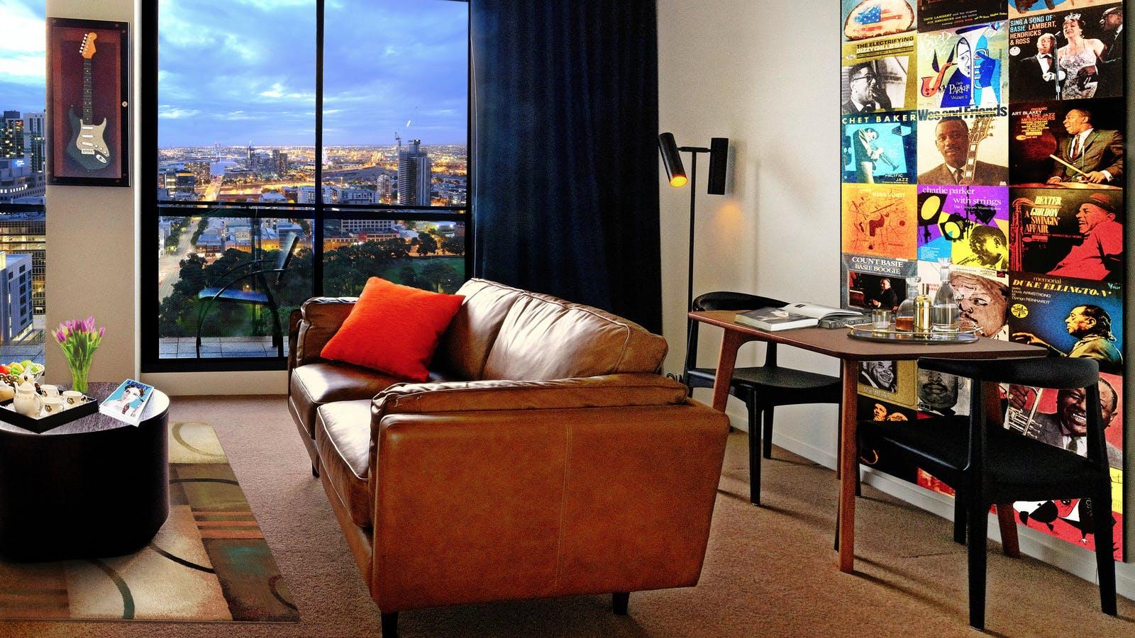 The Jazz Corner Hotel living room