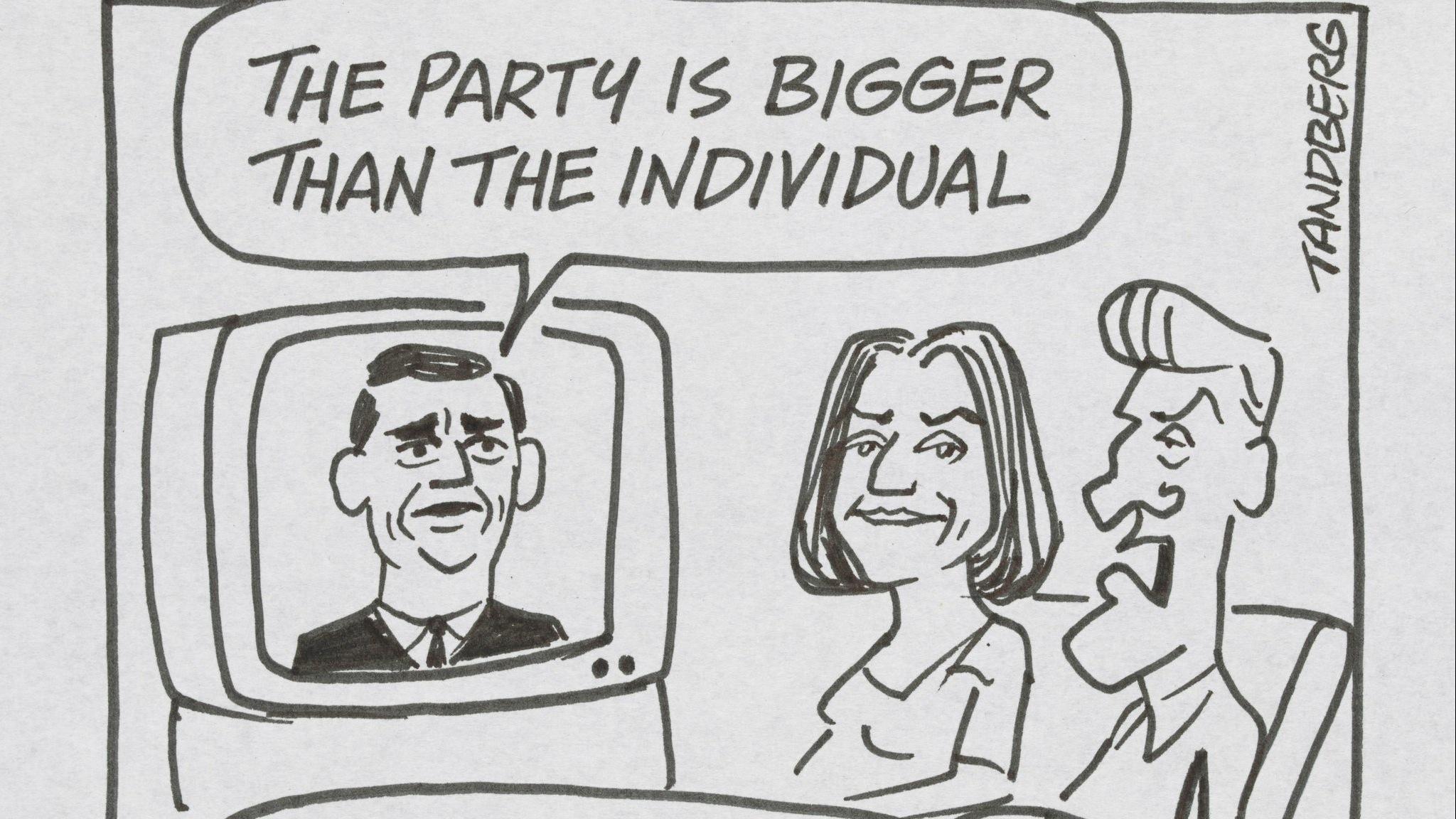 Ron Tandberg, The Party is Bigger than the Individual