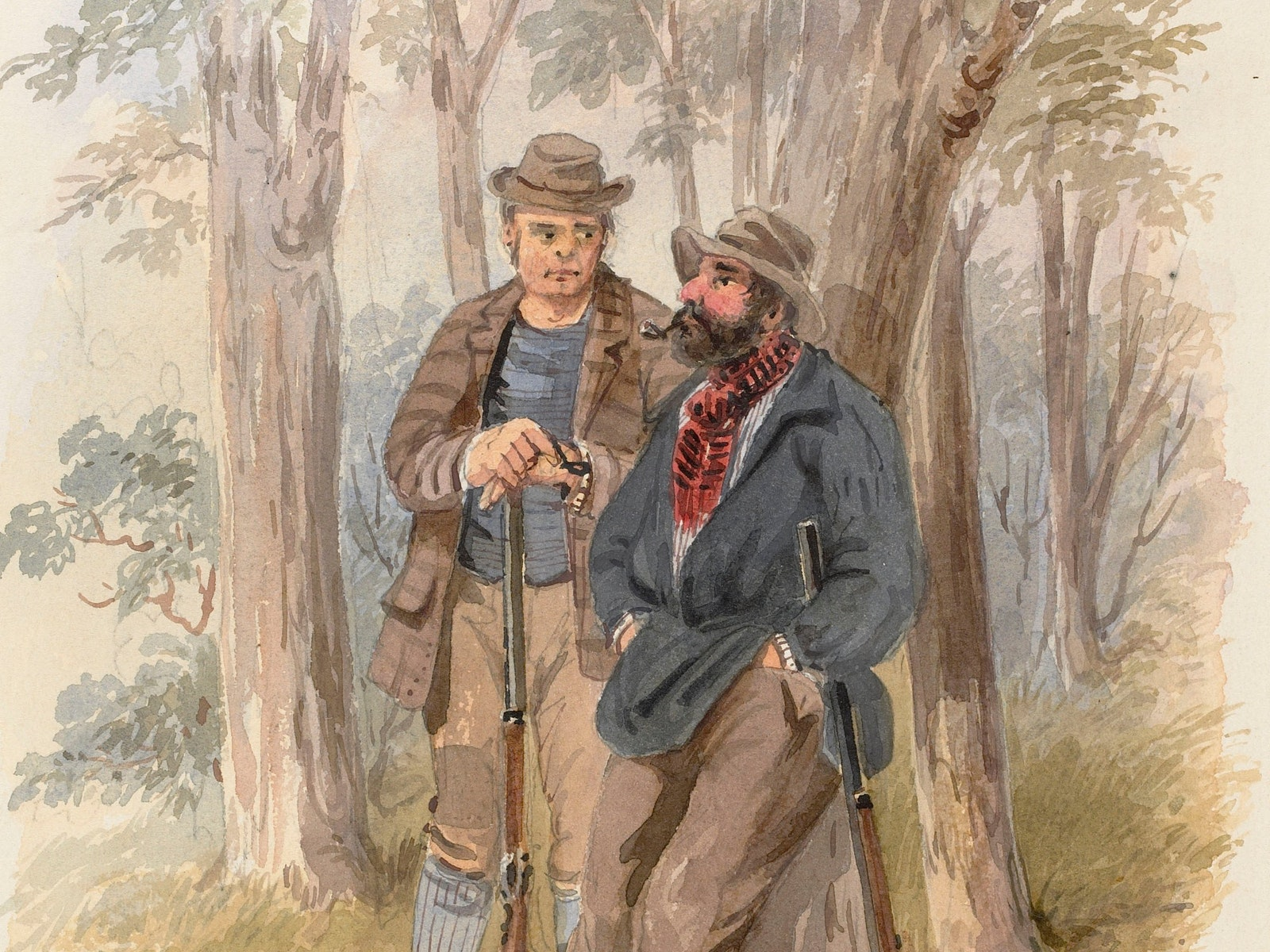 Dangerously suspicious by S.T. Gill. Courtesy of the La Trobe Collection State Library of Victoria