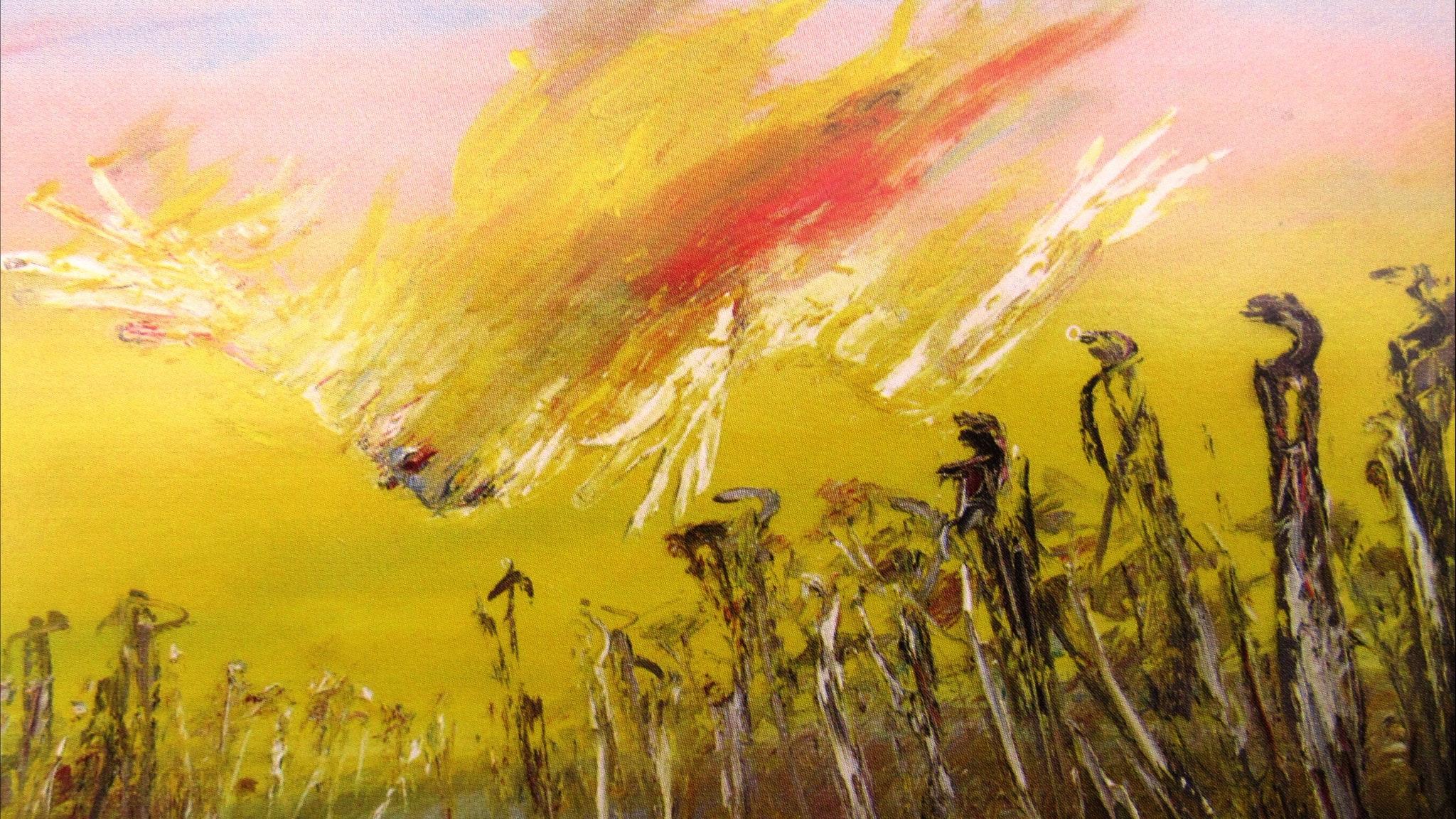 Arthur Boyd: Nebuchadnezzar on fire falling over a waterfall (1966-1968)