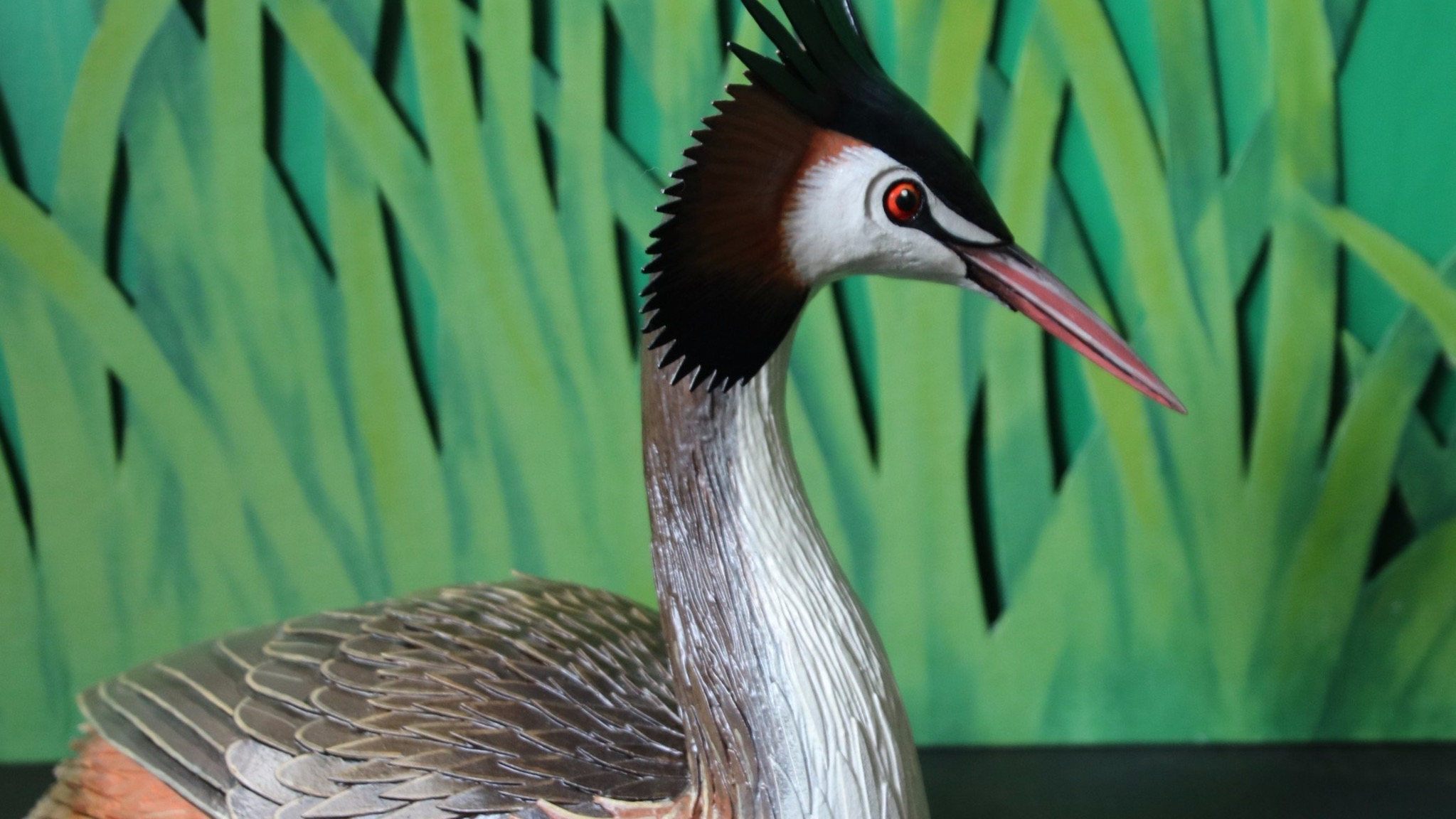 Great Crested Grebe - 3D Artwork by Barry Mousley